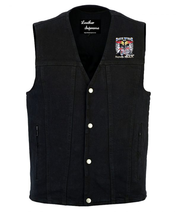 Bike week 2019 denim vest