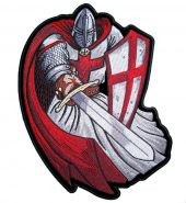 Red Christian crusader knight patch