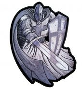 Christian knight patch