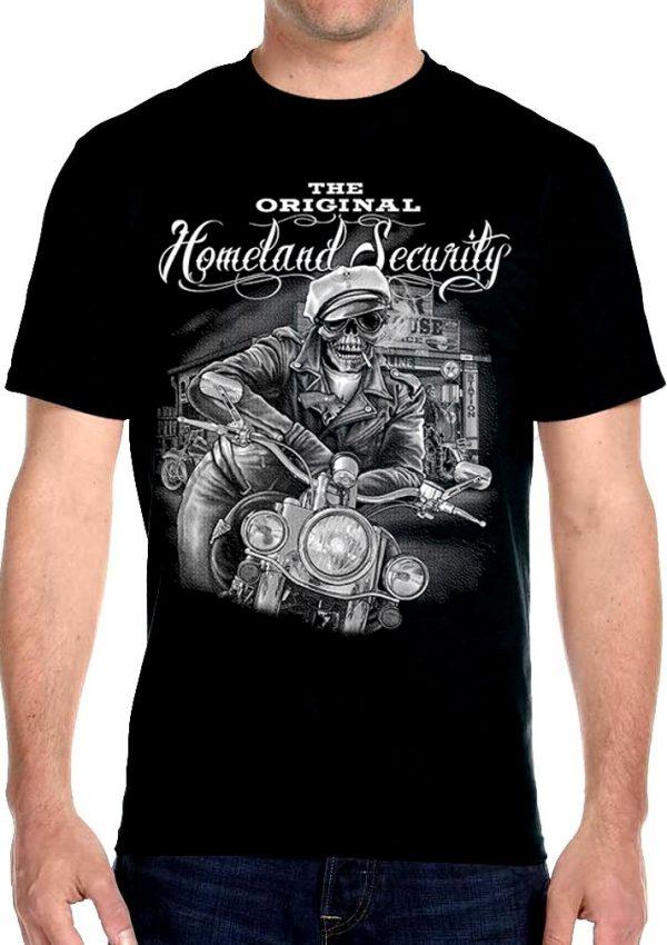 Biker guy skull tee shirt