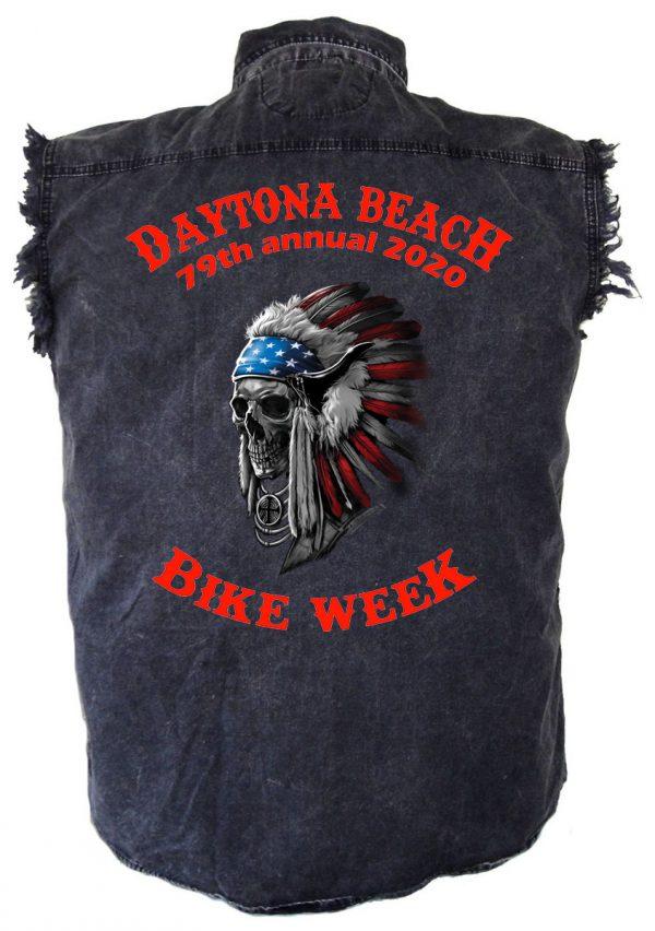 Bike week Indian chief skull shirt