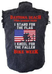 Kneel for the fallen bike week shirt