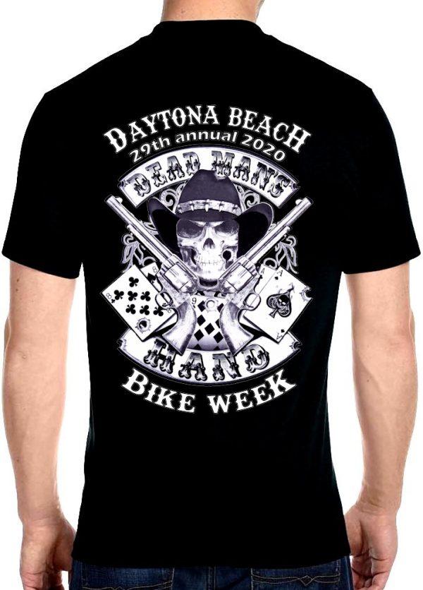 Dead man's hand bike week shirt