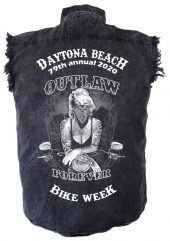 Biker chick outlaw bike week shirt