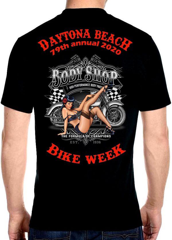 Biker chick bike week 2020 tee shirt