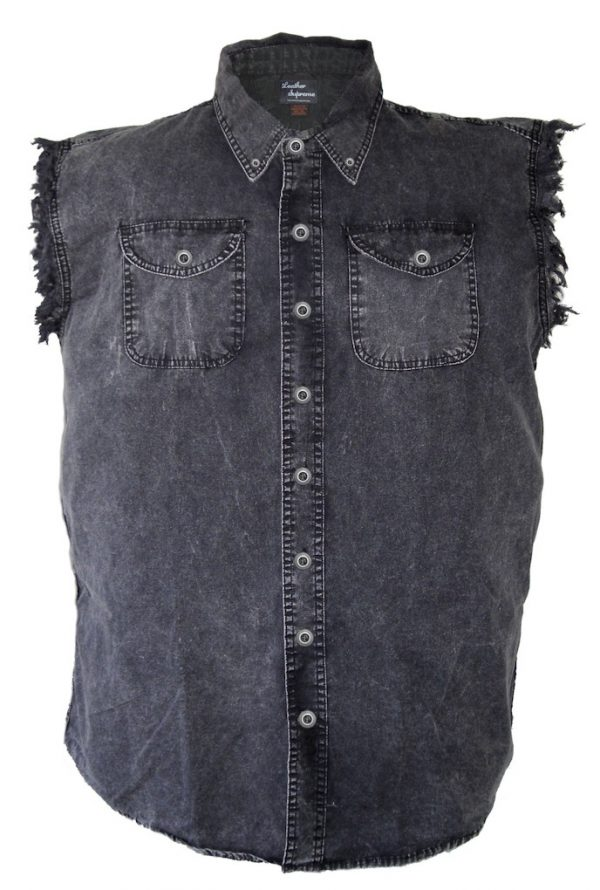 Men's denim biker shirts