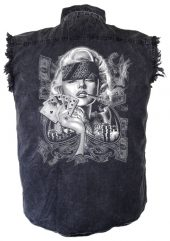 Gangsta Marilyn Monroe biker shirt