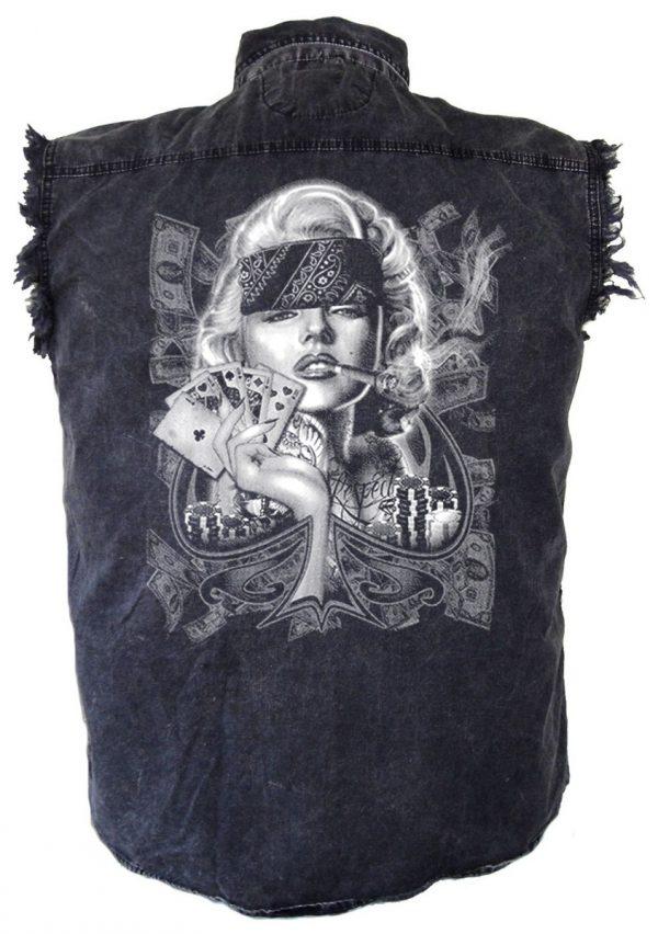 Gangsta Marilyn Monroe biker shirt