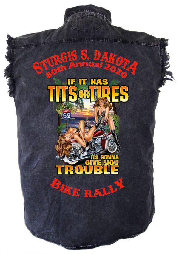 Sturgis Biker Babe Ride Denim Biker Shirt