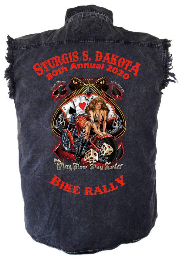 Sturgis Play Now Pay Later Biker Shirt