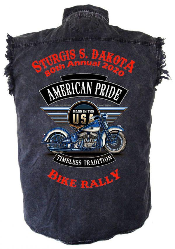 Sturgis American Pride Denim Biker Shirt