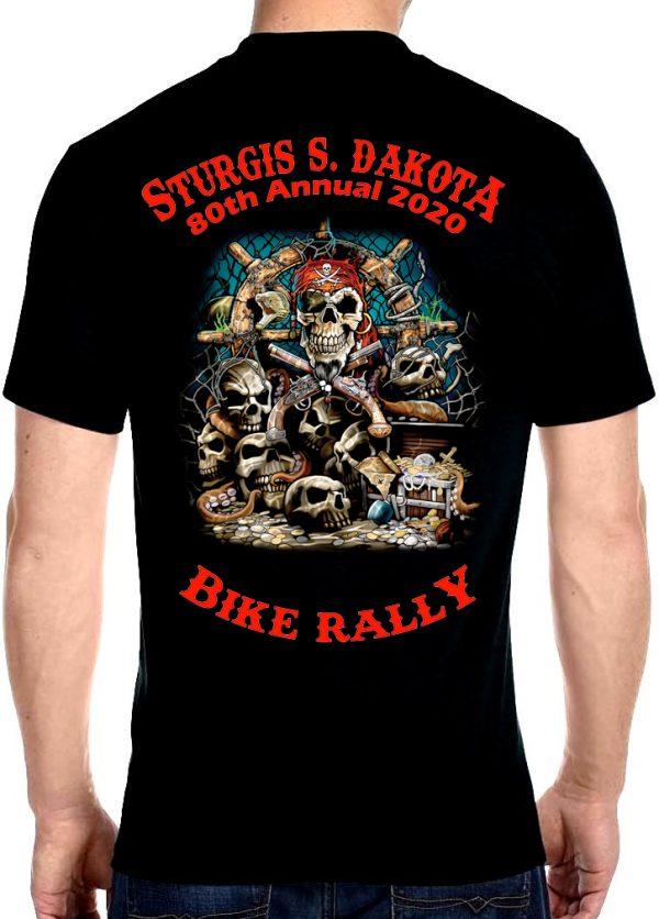 Mens Sturgis Skulls Galore Crew Neck Tee Shirt