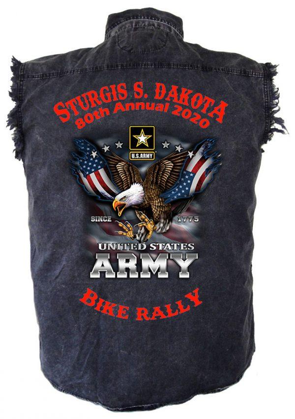 Sturgis Flying Eagle Denim Biker Shirt