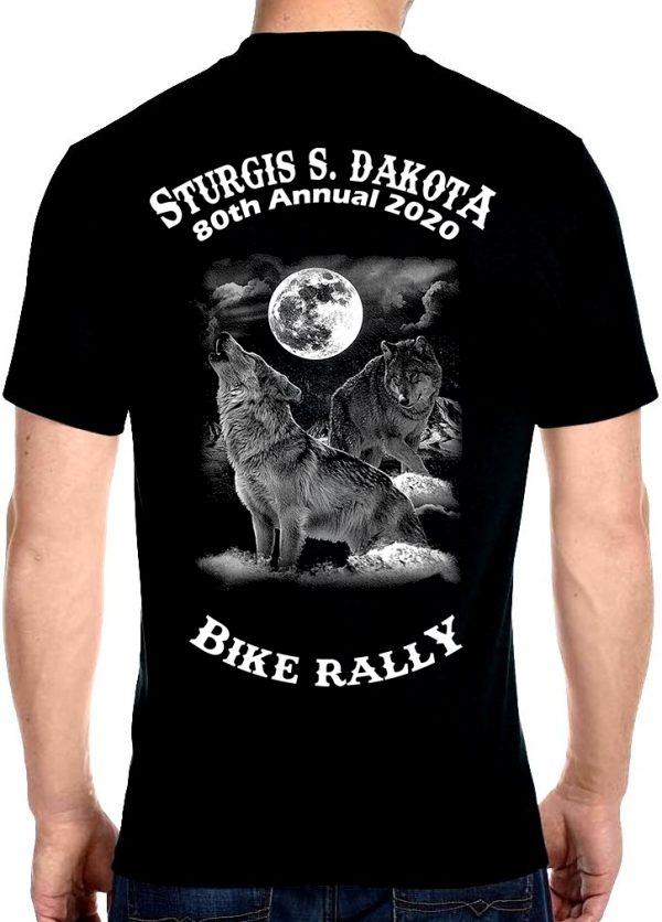Sturgis Gray Wolf Tee Shirt