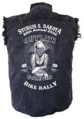 Outlaw Forever Sturgis Denim Biker Shirt