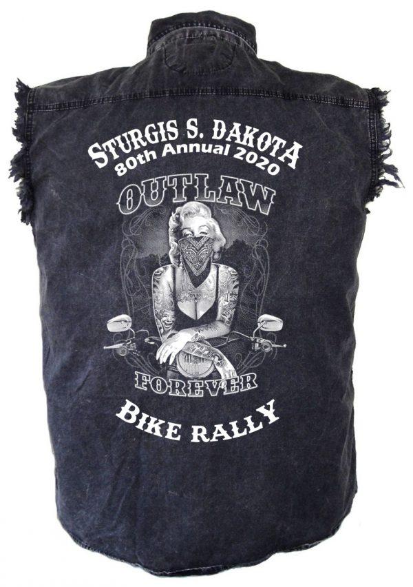 Outlaw Forever Sturgis Denim Biker Shirt