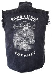 Sturgis Ghost Rider Denim Biker Shirt