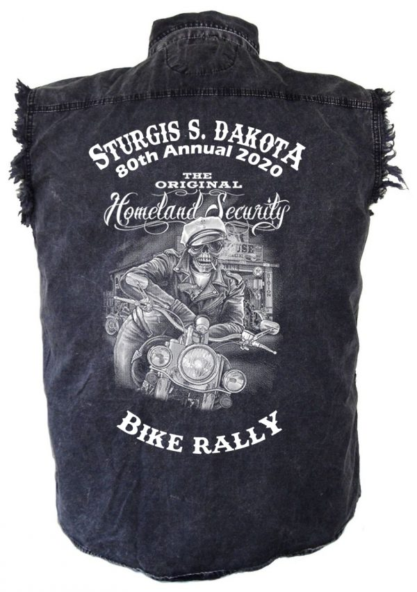 Sturgis Ghost Rider Denim Biker Shirt