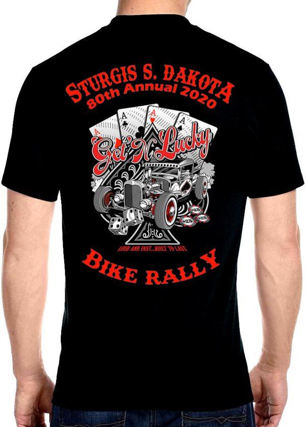 Mens Sturgis Get Lucky Crew Neck T-Shirt