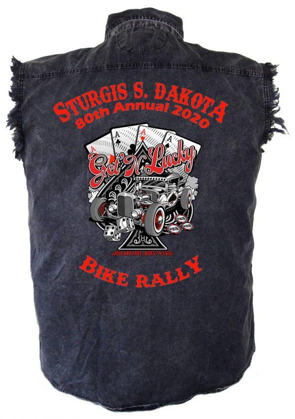Sturgis Get Lucky Denim Biker Shirt