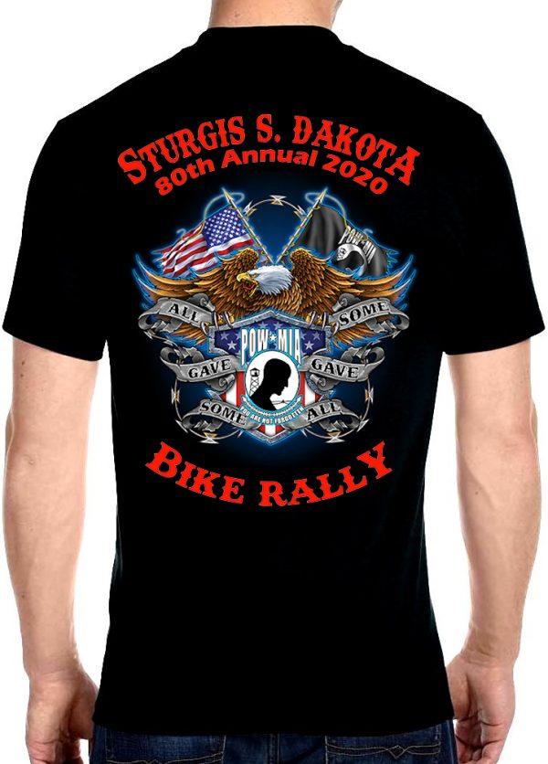 Sturgis Flying American Eagle Tee Shirt