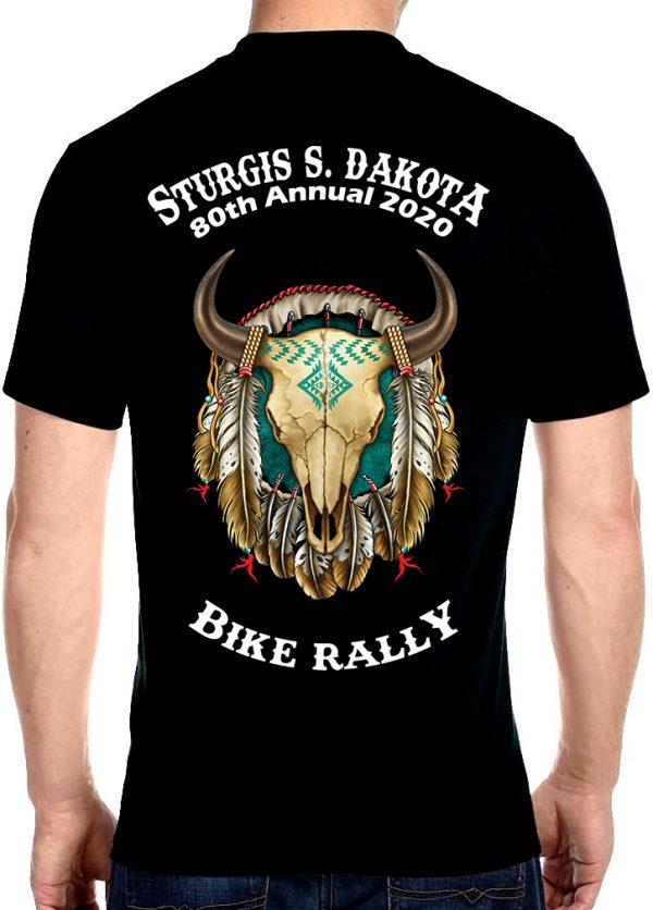 Sturgis American Bison Skull Shirt