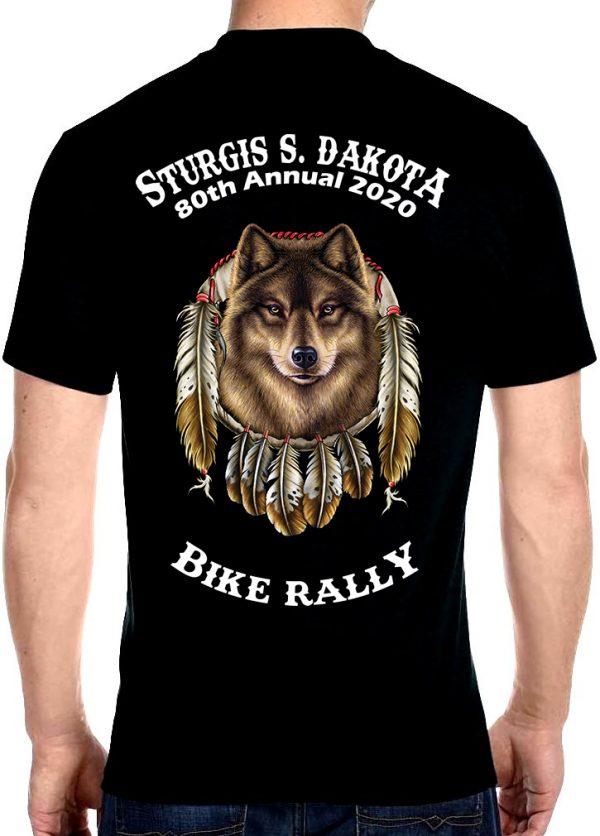 Sturgis Native American Wolf Tee Shirt