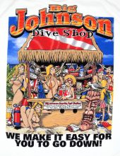 Classic Big Johnson dive shop sexy funny tee shirt
