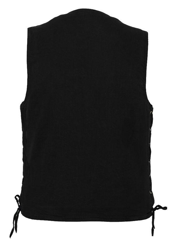 Concealed carry denim vest