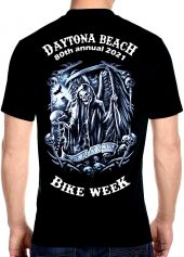 Daytona Beach Bike Week 2021 Facing Death Men's Biker Tee Shirt