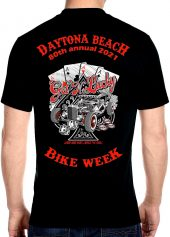 Daytona Beach Bike Week 2021 Get Lucky Men's Biker Tee Shirt
