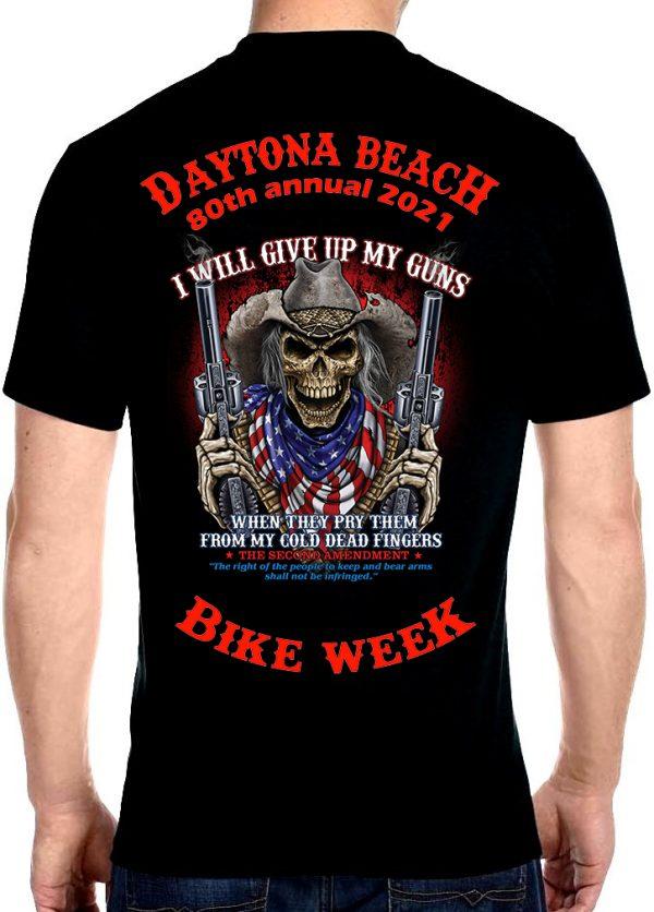 Daytona Beach Bike Week 2021 Men's Biker Tee Shirt