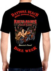 Daytona Beach Bike Week 2021 Babes & Cold Beer Biker Tee Shirt