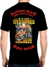 Daytona Beach 2021 Bike Week Hot Biker Babes Men's Biker Tee Shirt