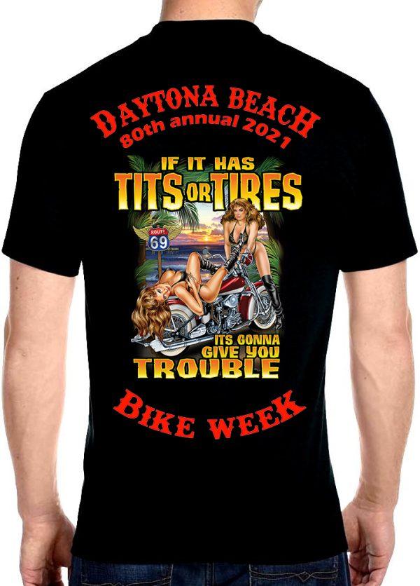 Daytona Beach 2021 Bike Week Hot Biker Babes Men's Biker Tee Shirt