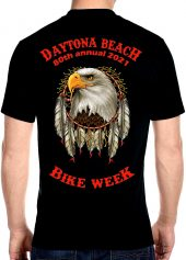 2021 Daytona Beach Bike Week American Eagle Biker Tee Shirt