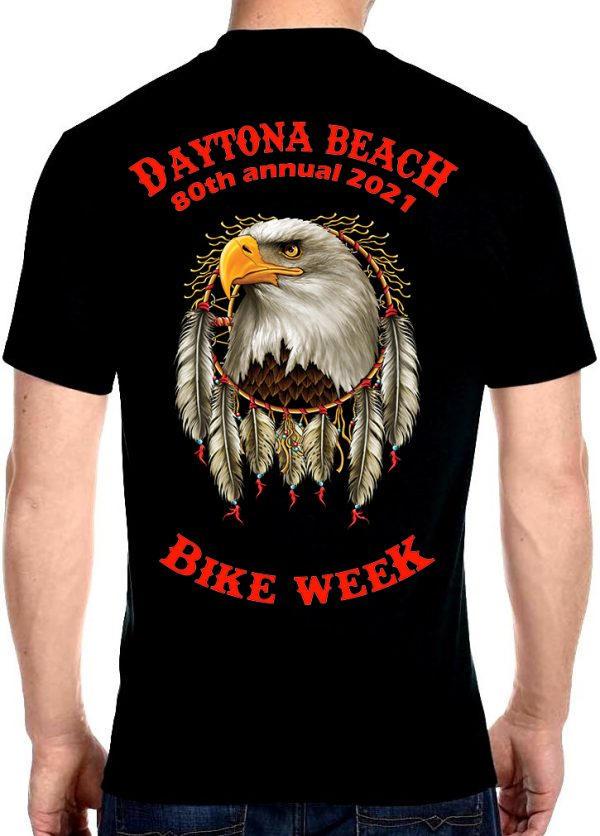 2021 Daytona Beach Bike Week American Eagle Biker Tee Shirt