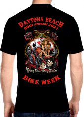 Daytona Beach Bike Week 2021 Biker Babe Biker Men's Tee Shirt