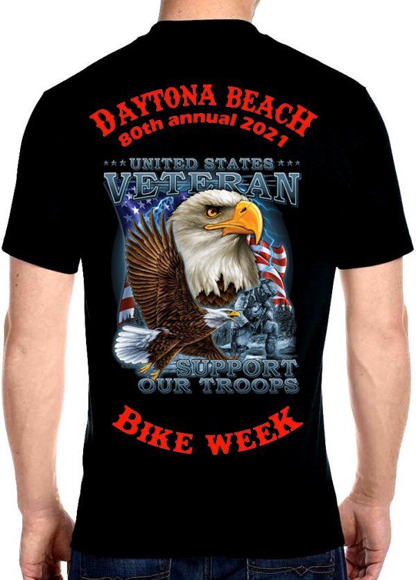Men's Daytona Beach Bike Week 2021 War Eagle Biker Tee Shirt