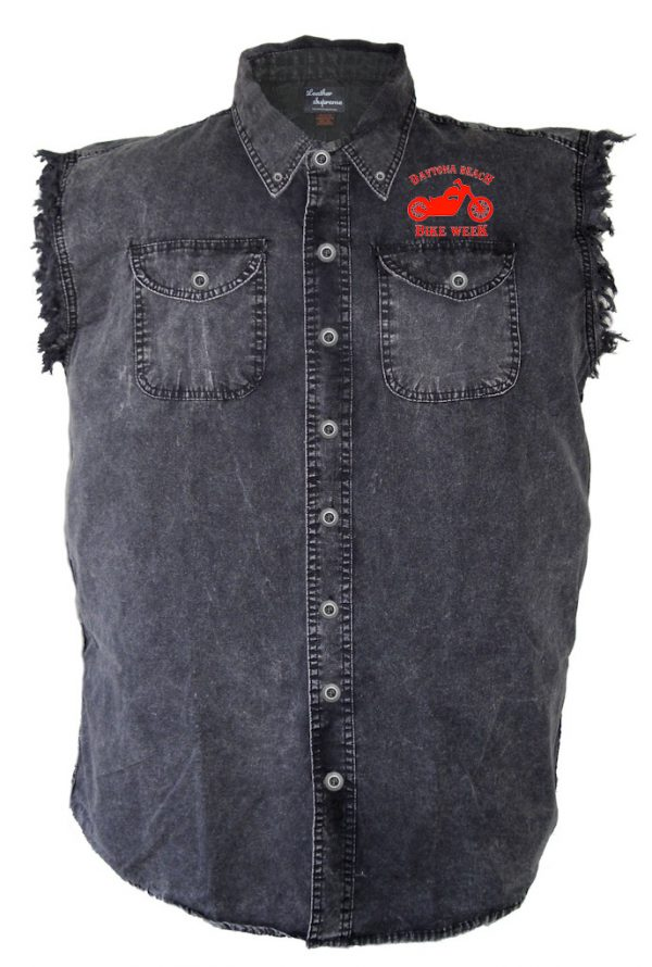 Daytona Beach Bike Week 2021 Men's Denim Biker Shirt