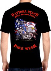 Men's Daytona Beach Bike Week 2021 American Symbols Biker Tee Shirt