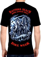 Daytona Beach Bike Week 2021 Grim Reaper Biker Tee Shirt