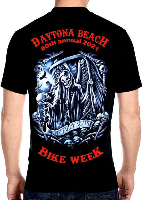 Daytona Beach Bike Week 2021 Grim Reaper Biker Tee Shirt