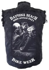 Daytona beach bike week 2021 denim shirt