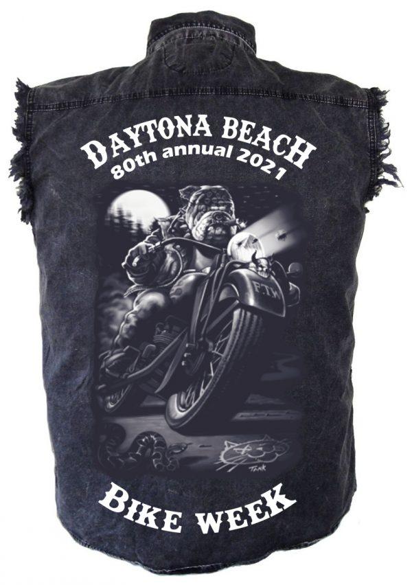 Daytona beach bike week 2021 denim shirt