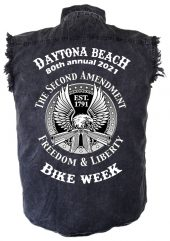 Mens Daytona Beach Bike Week Denim Shirt