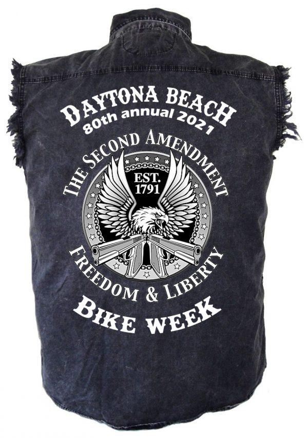 Mens Daytona Beach Bike Week Denim Shirt