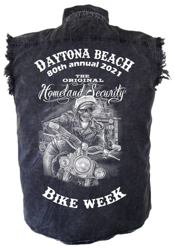 Daytona Beach Bike Week 2021 Badass Skeleton Rider Mens Shirt