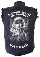 Mens Daytona Beach Bike Week 2021 Badass Marilyn Biker Shirt