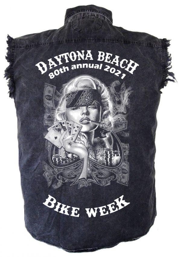 Mens Daytona Beach Bike Week 2021 Badass Marilyn Biker Shirt